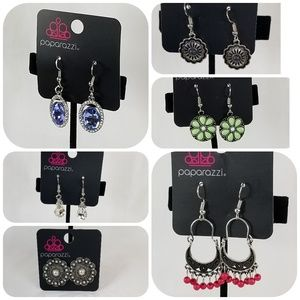 Paparazzi Earring Bundle, 6 Sets, New